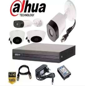 2mp 4 cctv camera full hd 1080p complete setup no hidden charges