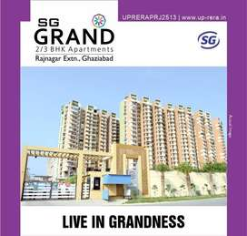 2 BHK Flat With Study Room For Sale In SG Grand Raj Nagar Extension, G