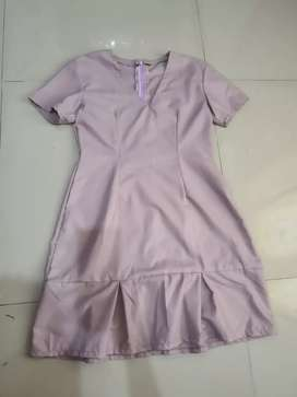 Dress purple body fit