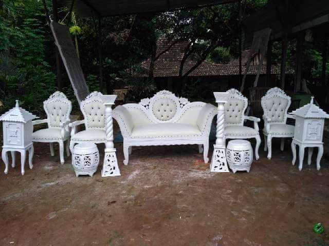 Jual Kursi Sofa Pernikahan Jati #4784 0