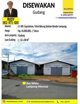Disewakan Gudang di Jl. Supratman, Teluk Betung Selatan, Bandar Lampun