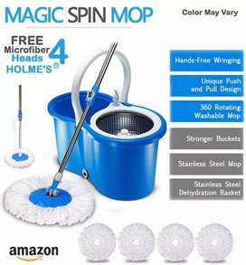 Easy Spin Magic Mop 360 Home Cleaning System and Office Use