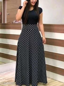 Candid classy Designer Women's Maxi Dress