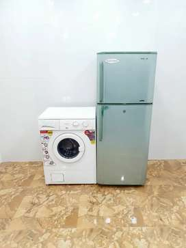 IFB 5.5 kg front load and Samsung double door 250 litre LE55