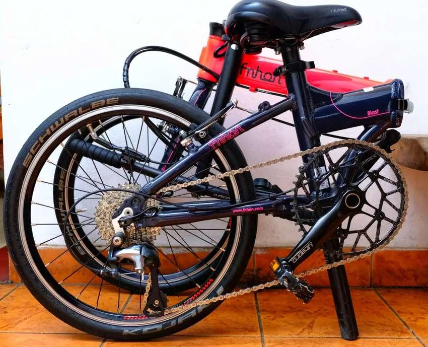 Sepeda lipat Fnhon Blast Pink bekas