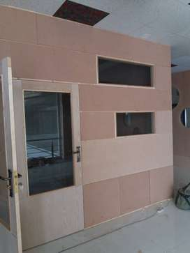 Wood partitions wood work kitchn almaria doors with mtrial or without