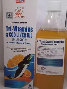 Vitamin Tung hai cair rasa jeruk