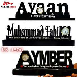 Customized and Personalized Name Table Stylish Clock