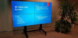 4k Video Wall System 2x2 With 4x LED Smart TV 50 Inch Complete Setup