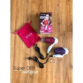 Super Dry Bellagio Hair Dryer Original BOLDe FREE Kantong Premium
