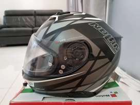 Helm Nolan N 87 warna silver abu2 uk.XL