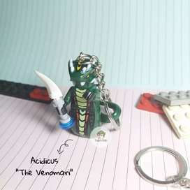 Gantungan Kunci Lego Ninjago Minifigure Acidicus The Venomari