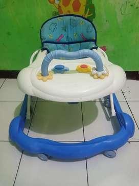 Baby walker biru