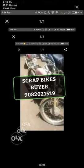 Scrap bikes and cars buyers