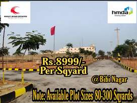 Hmda approved residential plots for sale at BB Nagar