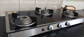 GLEN Glass Gas Stove with Auto Ignition