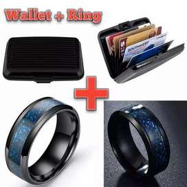 Aluma Wallet Resistant Card Protector holder with Stainless Steel Ring
