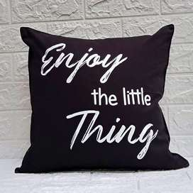"Sarung Bantal Sofa 40x40 New Motif ""Enjoy The Little Things"""