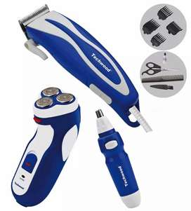 UK Techwood TCO-2538 Shaver and Trimmer Set:
