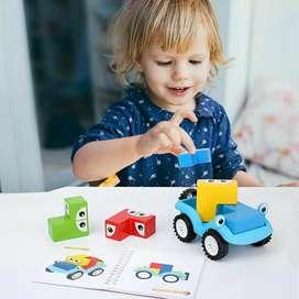 Puzzle Susun Mobil Kayu
