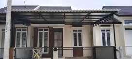 @27 canopy minimalis rangka tunggal atapnya alderon pvc bikin nyaman