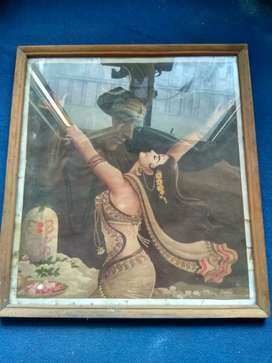 Poster Lukisan kertas lawas