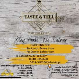 Taste and Tell, best home made food