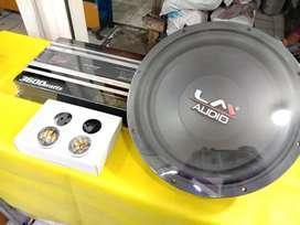 Paket LM. Power kicx 4 channel 3600 w + Subwoofer LM 12 inch