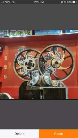 Alloy rims for 125