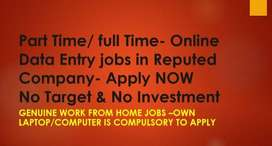 Best Online Data Entry jobs - Genuine work from Home jobs - Apply NOW-