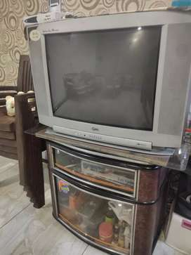 LG TV golden eye model with box stand