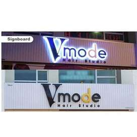 LED 3D Sign Board available