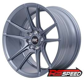 pelek hsr racing r17 lebar 7/8 warna grey untuk mobil corolla,vios,dll