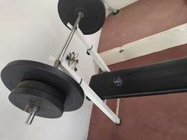 Good quality bench , rod and weights
