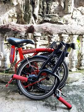 Jual sepeda lipat ELEMENT PIKES 3s Udah upgrade. Dijamin loncer ngacir