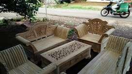 kursi tamu madura keong materil kayu jati pengiriman dari jepara