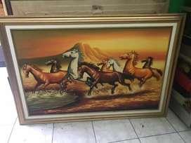 jual lukisan kuda besar