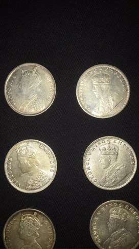 1862-1919 ANCIENT SILVER COINS.              LEAST PRICE IN THE MARKET