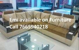 Sunday Sale New Sofa set 8500,L shape sofa 14000, Emi available