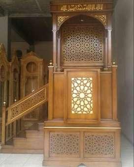 mimbar masjid tangga ukirran jepara