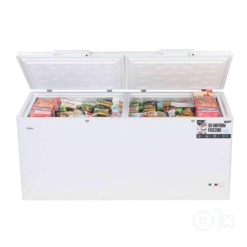 Haier - Double Door Hard Top Deep Freezer HCC 588HC, Convertible, 519
