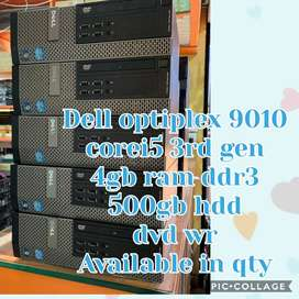 Dell optiplex 9010 corei5 3rd gen 4gb ram 500gb dvd win7  avai in bulk