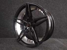 jual velg racing murah hermes 8397 ring 18x8 5x114,3 black silver