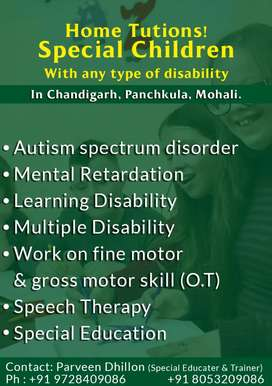 Special educater & trainer ( speech therapy,occupational therapy)
