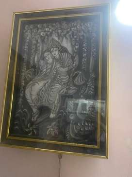 Handmade radha kirshna painting
