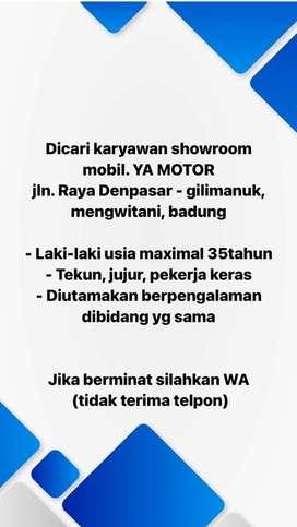 Lowongan Kerja Showroom Mobil