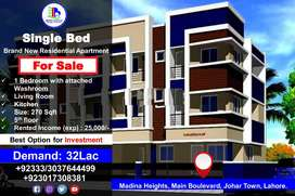 Single Bed Brand New Residential Apartment for Sale in Madina Heights,