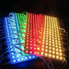 Lampu LED Modul Strip 6 Mata Variasi type 5050 , 12Volt TERBAIK