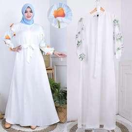 Gamis / dress / abaya / baju muslim maxmara flower
