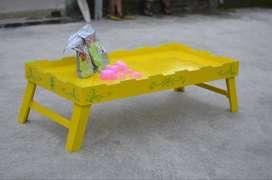 Mainan anak kreatif || Pasir kinetik lengkap mejanya